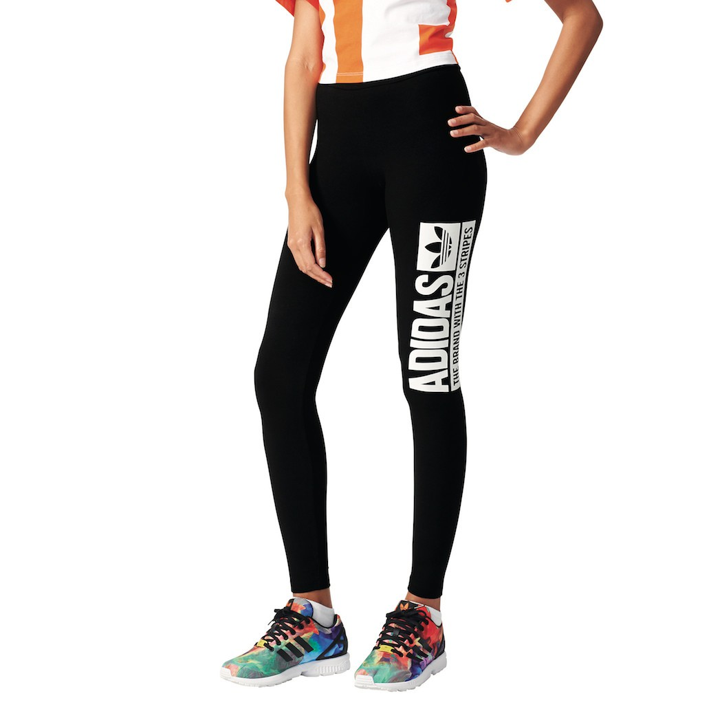 adidas originals trefoil leggings damen schwarz mode damen hosen fussballgott24. Black Bedroom Furniture Sets. Home Design Ideas
