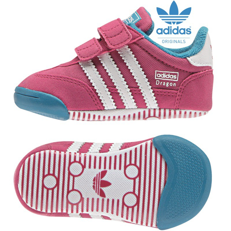 adidas babyschuhe learn2walk dragon rosa blau wei mode. Black Bedroom Furniture Sets. Home Design Ideas