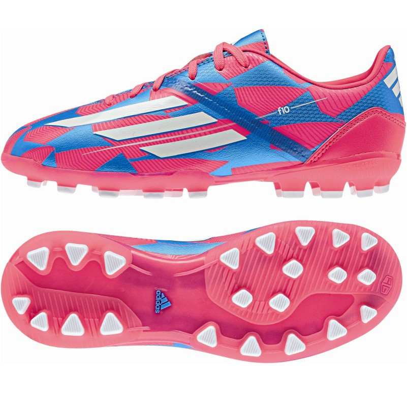 adidas f10 ag fu ballschuhe kunstrasen blau pink schuhe. Black Bedroom Furniture Sets. Home Design Ideas